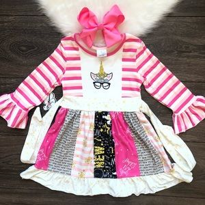 Boutique Toddler Girl New Year 2020 Dres Set